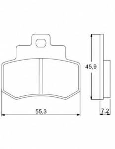 Accossato - Accossato Brake Pads Kit For Motorcycle, Made In Italy Compound, AGPP51 code