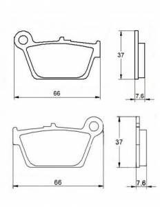 Accossato - Accossato Brake Pads Kit For Motorcycle, Made In Italy Compound, AGPP38 code