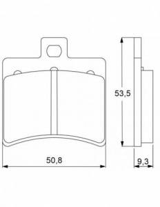 Accossato - Accossato Brake Pads Kit For Motorcycle, Made In Italy Compound, AGPP31 code