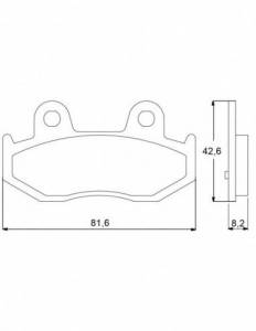 Accossato - Accossato Brake Pads Kit For Motorcycle, Made In Italy Compound, AGPP73 code