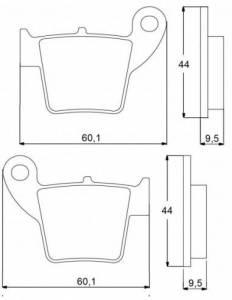Accossato - Accossato Brake Pads Kit For Motorcycle,  Compound, AGPP72 code
