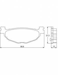 Accossato - Accossato Brake Pads Kit For Motorcycle,  Compound, AGPP92 code