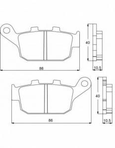 Accossato - Accossato Brake Pads Kit For Motorcycle, Made In Italy Compound, AGPP89 code