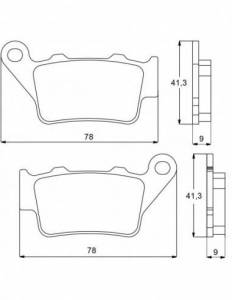 Accossato - Accossato Brake Pads Kit For Motorcycle, Made In Italy Compound, AGPP91 code