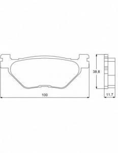 Accossato - Accossato Brake Pads Kit For Motorcycle,  Compound, AGPP81 code