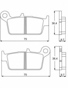 Accossato - Accossato Brake Pads Kit For Motorcycle, Made In Italy Compound, AGPP90 code