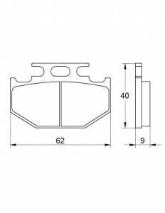 Accossato - Accossato Brake Pads Kit For Motorcycle,  Compound, AGPP99 code