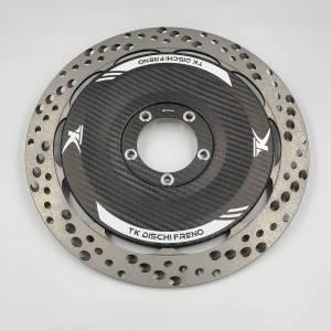 TK Dischi Freno - TK Dischi Freno EVO Brake Rotors w/ Carbon Covers Ducati Panigale V4 V4S V4R 1299