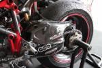 Carbonin - Carbonin Carbon Fiber Swingarm Cvr w/ Shark Fin Ducati 848/1048/1198