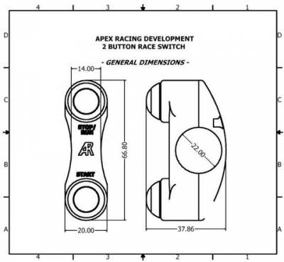 Apex Racing Development - Generic Two Button Run/Kill  Switch (Brembo Mount In line) RH - Image 2