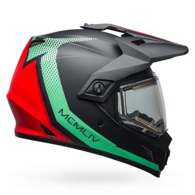 Helmets - Bell - MX-9 ADVENTURE SNOW - ELECTRIC SHIELD
