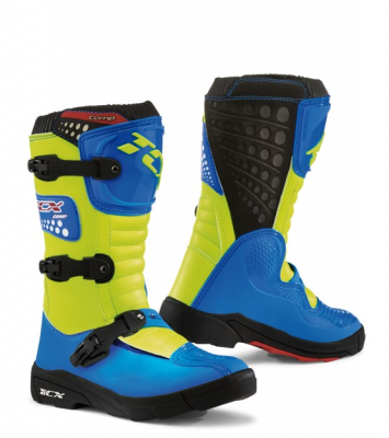 2019 COLLECTION - OFF-ROAD LINE - TCX - TCX COMP KID ROYAL BLUE/YEL FLUO