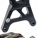 Aftermarket Motorcycle Brakes - Calipers - Brembo - Brembo Caliper + Bracket Axial CNC Rear Black Yamaha R1 >2011