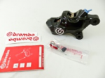 Aftermarket Motorcycle Brakes - Calipers - Brembo - Brembo Caliper .484 Custom Black Coating Machined Logo 69.1mm Right