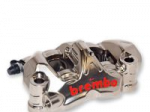 Aftermarket Motorcycle Brakes - Calipers - Brembo - Brembo Caliper GP4PR Radial 108mm 32/36 7835424 Front Left Nickel