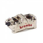 Aftermarket Motorcycle Brakes - Calipers - Brembo - Brembo Caliper GP4-MS P4 100mm Monoblock Billet Front Left Nickel