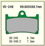 Vesrah - Vesrah Brake Pads VD-248XX (1 set/2 Calipers) - Image 2