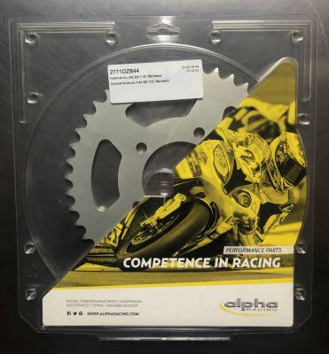 Chain & Sprockets - Sprockets - Alpha Racing Performance Parts - Alpha Racing Sprocket aluminium, T44, 520, for OZ wheel