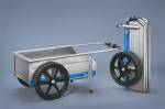 Tools Workshop & Garage - Foldit Paddock Wheel Cart Blue