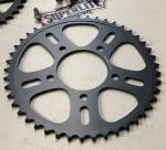 Chain & Sprockets - Sprockets - SUPERLITE - 520 Pitch Superlite RotoBox Boost Series Black Plated Steel Rear Race Sprocket 44tooth