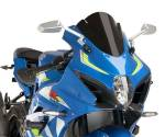 Accessories - Windshields - PUIG WINDSCREEN RACING BLACK 2017-2020 SUZUKI GSXR 1000