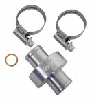 "AiM Sports - AiM 5/8""/3/4"" M10 inline water fitting, titanium gray - Image 1"
