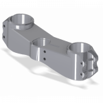 Chassis & Suspension - Triple Clamps - Attack Performance - ATTACK PERFORMANCE BOTTOM CLAMP, Z6R 09-