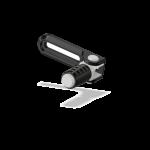 Attack Performance - ATTACK PERFORMANCE BRAKE LEVER SLIDER ASSEMBLY W/PEDAL, PEG BRAKET MOUNTING, BLACK