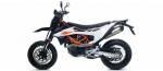 Exhaust Systems - Slip-ons - ARROW RACE-TECH ALUMINUM EXHAUST FOR KTM 690 SMC R / 72624AK