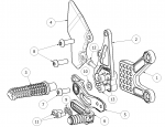 Attack Performance - ATTACK PERFORMANCE REAR SET KIT, ZX10R, 11-15 , AERO HARD (REPLACEMENT PARTS) - Image 3