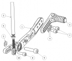 Attack Performance - ATTACK PERFORMANCE  REAR SET KIT, YAM R6 06- , AERO HARD (REPLACEMENT PARTS) - Image 3