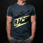 4SR - T-Shirts - 4SR - 4SR T-SHIRT RACER GREY
