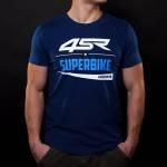 4SR - T-Shirts - 4SR - 4SR T-SHIRT SUPERBIKE BLUE
