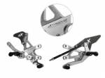 Extreme Components - Extreme Components Rearset RSV4 09-16 GP shift Silver with carbon heel