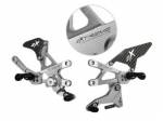 Extreme Components - Extreme Components Rearset RSV4 09-16 STD shift Silver w carbon heel