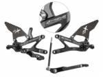 Extreme Components - Extreme Components Rearsets CBR1000RRR 2020 GP Black w carbon heel