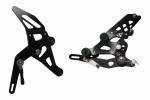 Hand & Foot Controls - Rearsets - Accossato - Accossato Adjustable Racing Street Rearsets Made in Aluminum