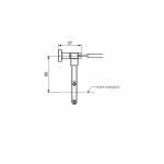 Accossato Spare long support 60mm For Accossato remote adjuster RA001-RA004
