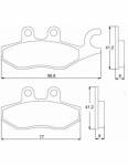 Pads - Brake Pads - Accossato - Accossato Brake Pads Kit For Motorcycle, Made In Italy Compound, AGPA100 code