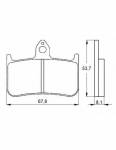 Pads - Brake Pads - Accossato - Accossato Brake Pads Kit For Motorcycle, Made In Italy Compound, AGPA122 code
