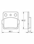Pads - Brake Pads - Accossato - Accossato Brake Pads Kit For Motorcycle, Made In Italy Compound, AGPA111 code