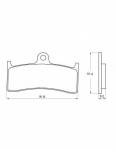 Pads - Brake Pads - Accossato - Accossato Brake Pads Kit For Motorcycle, Made In Italy Compound, AGPA124 code