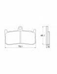 Pads - Brake Pads - Accossato - Accossato Brake Pads Kit For Motorcycle, Made In Italy Compound, AGPA138 code