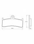 Pads - Brake Pads - Accossato - Accossato Brake Pads Kit For Motorcycle, Made In Italy Compound, AGPA130 code