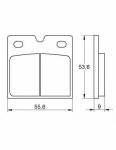 Pads - Brake Pads - Accossato - Accossato Brake Pads Kit For Motorcycle, Made In Italy Compound, AGPA141 code
