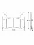 Pads - Brake Pads - Accossato - Accossato Brake Pads Kit For Motorcycle, Made In Italy Compound, AGPA140 code