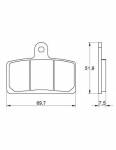 Pads - Brake Pads - Accossato - Accossato Brake Pads Kit For Motorcycle, Made In Italy Compound, AGPA142 code