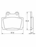 Pads - Brake Pads - Accossato - Accossato Brake Pads Kit For Motorcycle, Made In Italy Compound, AGPA167 code