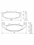 Pads - Brake Pads - Accossato - Accossato Brake Pads Kit For Motorcycle, Made In Italy Compound, AGPA153 code