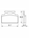 Pads - Brake Pads - Accossato - Accossato Brake Pads Kit For Motorcycle, Made In Italy Compound, AGPA168 code